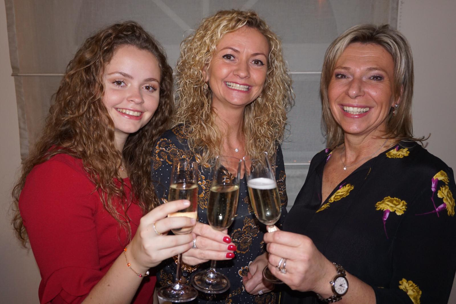 Het Tre Donne Team: Kristel, Kathleen en Kayleigh